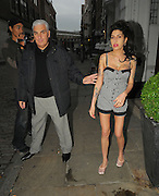 07.OCTOBER.2010. LONDON<br /> <br /> AMY WINEHOUSE AND DAD MITCH LEAVING THE MALMAISON HOTEL IN FARINGDON, TO HEAD TO NEW CLUB CITY BERLESQUE IN FARINGDON.<br /> <br /> BYLINE: EDBIMAGEARCHIVE.COM<br /> <br /> *THIS IMAGE IS STRICTLY FOR UK NEWSPAPERS AND MAGAZINES ONLY*<br /> *FOR WORLD WIDE SALES AND WEB USE PLEASE CONTACT EDBIMAGEARCHIVE - 0208 954 5968*