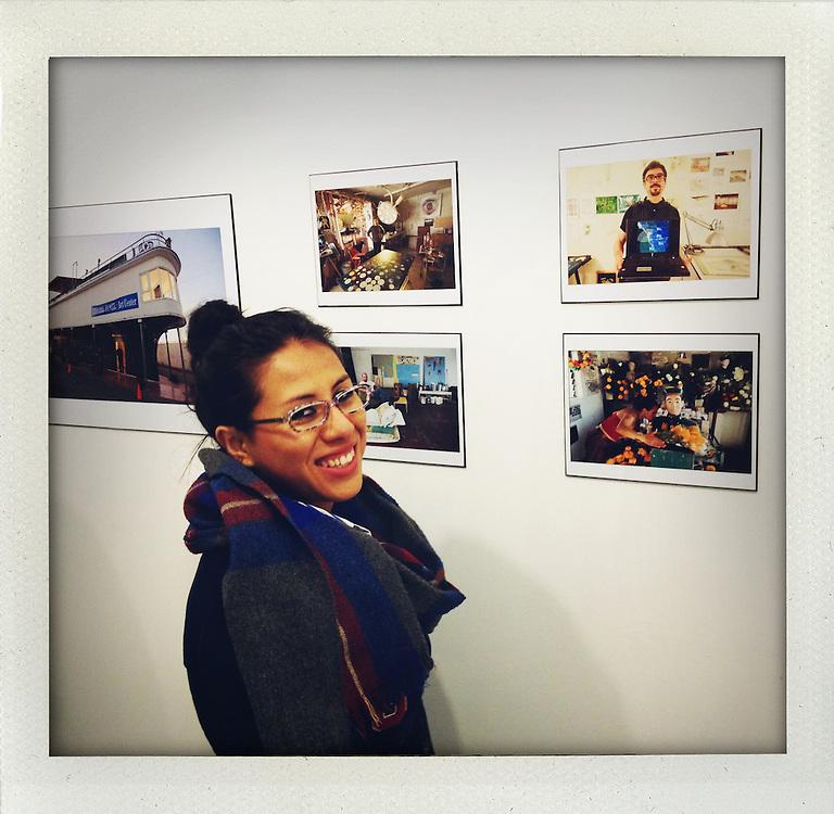 Freelance gallery owner Ximena Jasso in Tijuana..from the series Fake Polaroids.http://www.stefanfalke.com/.@ Stefan Falke..