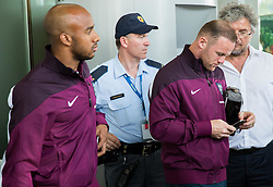 Fabian Delph and Wayne Rooney during arrival of  England National Football team 1 day before EURO 2016 Qualifications match against Slovenia, on June 13, 2015 in Airport Joze Pucnik, Brnik - Ljubljana, Slovenia. Photo by Vid Ponikvar / Sportida
