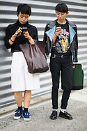 Texting, Outside Dries van Noten