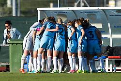 Manchester City Women team huddle - Mandatory by-line: Paul Knight/JMP - 09/05/2017 - FOOTBALL - Stoke Gifford Stadium - Bristol, England - Bristol City Women v Manchester City Women - FA Women's Super League Spring Series