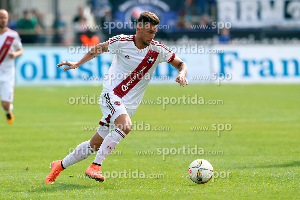 03.04.2016, Volksbank Stadion, Frankfurt, GER, 2. FBL, FSV Frankfurt vs 1. FC Nuernberg, 28. Runde, im Bild Danny Blum (7), 1.FC Nuernberg // during the 2nd German Bundesliga 28th round match between FSV Frankfurt and 1. FC Nuernberg at the Volksbank Stadion in Frankfurt, Germany on 2016/04/03. EXPA Pictures &copy; 2016, PhotoCredit: EXPA/ Eibner-Pressefoto/ RRZ<br /> <br /> *****ATTENTION - OUT of GER*****