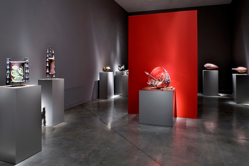 Glass sculptures by William Morris Artist. Displayed at Imago Gallery in Palm Desert, CA