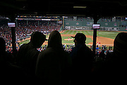 10/23/13 — BOSTON — Fans stake out spots early in the Standing Room Only section of Fenway Park before Game 1 of the World Series on Oct. 23, 2013.