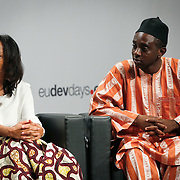 04 June 2015 - Belgium - Brussels - European Development Days - EDD - Education - Right to quality education - Chernor Bah , Member , Youth Advocacy Group , Global Education First Initiative - Anna Murru , Programme Manager in Zambia , Flemish Association for Development Cooperation and Technical Assistance (VVOB) © European Union