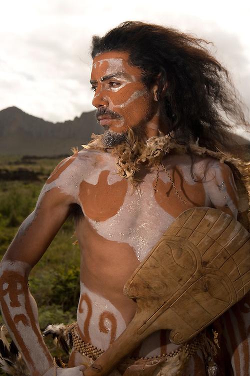Rapa Nui man, Easter Island, Chile