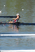 Hazewinkel, BELGIUM,  Men's Lightweight single Sculls, Zac PURCAHSE,   moves away from the start pontoon in the Sunday afternoon semi final, at the GB Rowing Senior Trials, on Sun,15.04.2007  [Credit, Peter Spurrier/Intersport-images]   [Mandatory Credit, Peter Spurier/ Intersport Images]. , Rowing Course, Bloso, Hazewinkel. BELGUIM