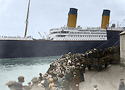 Amazing images that bring back to life  Titanic in Colour: Photos of One of the Largest Passenger Liners of Its Time Rendered in Full Colour<br /> <br /> The RMS Titanic was one of the most opulent liners to have ever been built and the largest steamship in the world. It struck an iceberg on its maiden voyage from Southampton, England, to New York City and sank on April 15, 1912.<br /> <br /> Since the discovery of its wreckage in 1985, interest in the ill-fated liner slightly dwindled. Now a century after its sinking, the Titanic remains an enduring and enigmatic subject.<br /> <br /> Thomas Schmid of 3D history, is one such person that has been mesmerized by the tale of this fabled ship that was once pronounced unsinkable. Through his work, we are able to travel back in time to see images of the luxury liner, not as they were taken, but rendered in full colour.<br /> <br /> Photo shows: Titanic left Southampton, England, bound for New York. April 10, 1912..- colorised<br /> ©Thomas Schmid/Exclusivepix Media