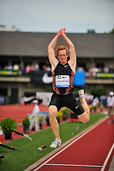 04.06.2011, Eugene, USA, Prefontaine Classic Track Meet, im Bild Greg Rutherford (GBR) wins the men's long jump with a leap of 8.32 meters at the Prefontaine Classic at Hayward Field in Eugene, Oregon..June 4, 2011. EXPA Pictures © 2011, PhotoCredit: EXPA/ New Sport Photo +++++ ATTENTION - OUT OF USA  +++++