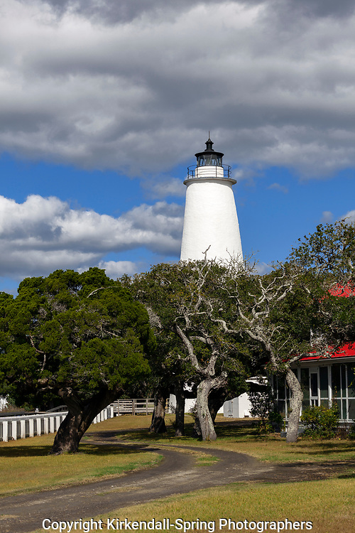 NC00824-00...NORTH CAROLINA - The Ocracoke Lighthouse on Ocracoke Island in the Outer Banks.