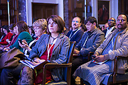 The audience participate in a survey at the 2014 Stars Foundation Philanthropreneurship Forum, Regents Park, London.