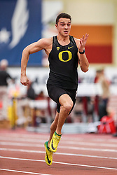 Don Kirby Invitational Indoor Track & Field<br /> Albuquerque, NM, Feb 14, 2020<br /> mens 60m heats, Oregon
