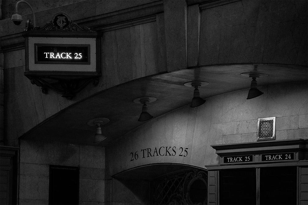 Train to Poughkeepsie on Track 25, Grand Central, NY