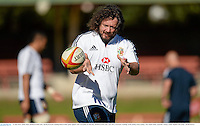13 June 2013; Adam Jones, British & Irish Lions, during forwards training ahead of their game against NSW Waratahs on Saturday. British & Irish Lions Tour 2013, Forwards Training, North Sydney Oval, Sydney, New South Wales, Australia. Picture credit: Stephen McCarthy / SPORTSFILE