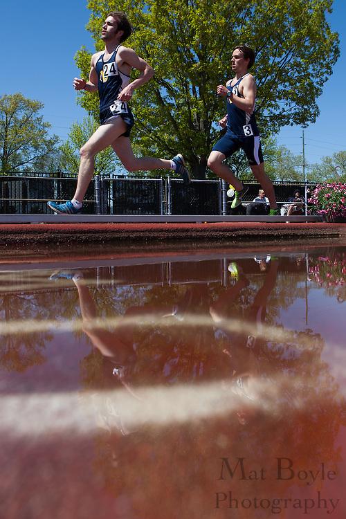 Men's 5000 meters at the NJAC Track and Field Championships at Richard Wacker Stadium on the campus of  Rowan University  in Glassboro, NJ on Sunday May 5, 2013. (photo / Mat Boyle)