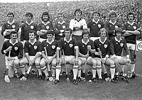 975-212<br /> The Galway Team. All-Ireland Hurling Final at Croke Park.<br /> (Part of the Independent Newspapers Ireland/NLI collection.)
