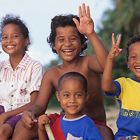 Raeng native children, Tiningdow Family, Yap, Wa`ab, Waqab, Federated States of Micronesia, islands in the Caroline Islands