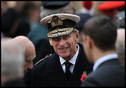 The Duke of Edinburgh accompanied by Prince Harry during their visit to the Field of Remembrance. Westminster Abbey, London, United Kingdom. Thursday, 7th November 2013. Picture by Andrew Parsons / i-Images