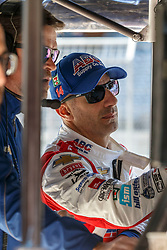 February 12, 2019 - U.S. - AUSTIN, TX - FEBRUARY 12: Tony Kanaan studies the timing numbers in his pit box during the IndyCar Spring Training held February 11-13, 2019 at Circuit of the Americas in Austin, TX. (Photo by Allan Hamilton/Icon Sportswire) (Credit Image: © Allan Hamilton/Icon SMI via ZUMA Press)