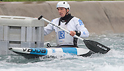 Waltham Cross, United  Kingdom,  Men's C1, David FLORENCE,  training before the British Canoeing, Olympic Team  Announcement, for 2016 Rio Olympics.  Lee Valley White Water Centre, Hertfordshire, UK  on Wednesday  04/11/2015  <br /> <br /> [Mandatory Credit: Peter SPURRIER: Intersport Images]