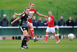 Jade Moore of Reading Women competes with Ella Rutherford of Bristol City  - Mandatory by-line: Nizaam Jones/JMP- 31/03/2019 - FOOTBALL - Stoke Gifford Stadium - Bristol, England - Bristol City Women v Reading Women - FA Women's Super League 1