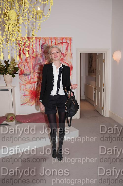 JANINA JOFFE, Valeria Napoleone hosts a dinner at her apartment e to celebrate the publication of her book  Valeria Napoleone's Catalogue of Exquisite Recipes. Palace Green. Kensington. London. 28 September 2012.