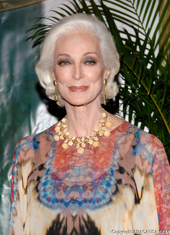 Iconic model Carmen Dell'Orefice poses before the Boys? Towns of Italy Gala 'Ball of the Year' at the Ritz -Carlton Hotel in White Plains, New York, USA on April 12, 2008.