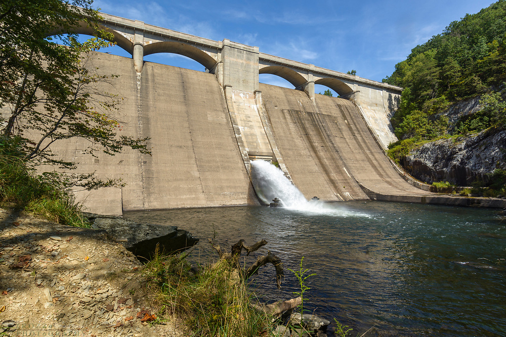 Prettyboy Reservoir Dam, Baltimore County, Maryland.