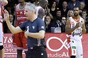 Derek Needham<br /> Grissin Bon Pallacanestro Reggio Emilia - Consultinvest Victoria Libertas Pesaro<br /> Lega Basket Serie A 2016/2017<br /> Reggio Emilia, 20/11/2016<br /> Foto A.Giberti / Ciamillo - Castoria