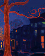 7th Street, Park Slope, Brooklyn at night