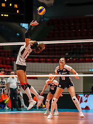 16.05.2019, Montreux, SUI, Montreux Volley Masters 2019, Deutschland vs Polen, im Bild Denise Imoudu (Germany #13) // during the Montreux Volley Masters match between Germany and Poland in Montreux, Switzerland on 2019/05/16. EXPA Pictures © 2019, PhotoCredit: EXPA/ Eibner-Pressefoto/ beautiful sports/Schiller<br /> <br /> *****ATTENTION - OUT of GER*****