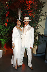 ANDY & PATTI WONG at Andy & Patti Wong's Chinese New Year party to celebrate the year of the Rooster held at the Great Eastern Hotel, Liverpool Street, London on 29th January 2005.  Guests were invited to dress in 1920's Shanghai fashion.<br />