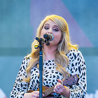 LAS VEGAS - SEP 20: Singer Meghan Trainor performs on stage at the 2014 iHeartRadio Music Festival Village on September 20, 2014 in Las Vegas.