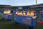 India walk onto the SCG. T20 international, Australia v India. Sydney Cricket Ground, NSW, Australia, 25 November 2018. Copyright Image: David Neilson / www.photosport.nz