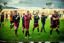 Marko Gajic of Triglav and other players of Triglav celebrate after the football match between NK Triglav Kranj and NK Domzale in 35th Round of Prva liga Telekom Slovenije 2018/19, on May 22nd, 2019, in Sports park Kranj, Slovenia. Photo by Vid Ponikvar / Sportida