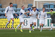 NCR celebrate after taking a 1-0 lead - St James (blue) v NCR (white) North of Tay Cup (sponsored by Evening Telegraph) Cup Final at Dens Park <br /> <br />  - &copy; David Young - www.davidyoungphoto.co.uk - email: davidyoungphoto@gmail.com
