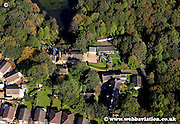 aerial photograph of Firwood Fold Bolton Lancashire England UK