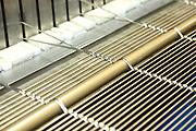 D&uuml;ren. 15.03.17 | BILD- ID 027 |<br /> GKD - Gebr. Kufferath AG. Metallfassade f&uuml;r die Neue Mannheimer Kunsthalle.<br /> Das Unternehmen in D&uuml;ren produziert Fassaden f&uuml;r die Architektur aus Metall. Ein gewebtes Metallgitter wird von Aussen an die Fassade montiert. <br /> Kunsthallendirektorin Dr. Ulrike Lorenz besucht das Unternehmen in D&uuml;ren und freut sich &uuml;ber die technische Umsetzung mit einer speziell goldenen Pigmentierung der Edelstahlstreben.<br /> Bild: Markus Prosswitz 15MAR17 / masterpress (Bild ist honorarpflichtig - No Model Release!)
