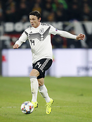 Nico Schulz of Germany during the UEFA Nations League A group 1 qualifying match between Germany and The Netherlands at the Veltins Arena on November 19, 2018 in Gelsenkirchen, Germany