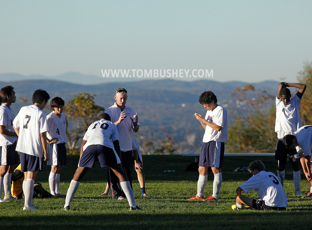 Cornwall, New York - The Oakwood Friends School plays the Storm King School in a Hudson Valley Athletic League boys soccer game on Oct. 13, 2010.