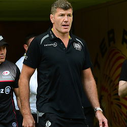 Exeter Chiefs Head Coach Rob Baxter looks on
