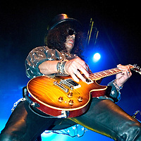 Velvet Revolver play live at the Carling Academy..Lead Guitarist Slash.