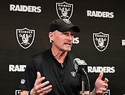 Apr 11, 2019, Alameda, CA, USA; Oakland Raiders general manager Mike Mayock speaks at a press conference at the Raiders practice facility prior to the 2019 NFL Draft.