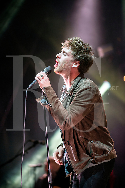 Paulo Nutini performs at the bandstand in Edinburgh's Princess Street Gardens as part of Edinburgh's Hogmanay celebrations on Dec 31st, 2016 in Edinburgh, Scotland.
