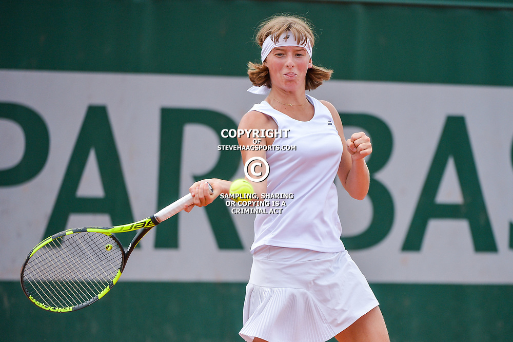 Manon Leonard of France during Day 8 of the French Open 2018 on June 3, 2018 in Paris, France. (Photo by Baptiste Fernandez/Icon Sport)