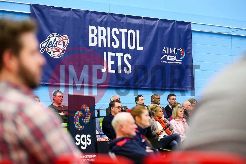 Bristol Jets fans - Rogan Thomson/JMP - 09/01/2017 - BADMINTON - SGS Wise Arena - Bristol, England - Bristol Jets v Birmingham Lions - AJ Bell National Badminton League.