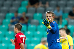 August 3, 2017 - Ljubljana, Slovenia, Slovenia - Goalkeeper Alexander Schwolow of SC Freiburg during the UEFA Europa League Third Qualifying Round match between SC Freibur and NK Domzale at Arena Stozice on 3 rd August , 2017 in Ljubljana, Slovenia. (Credit Image: © Damjan Zibert/NurPhoto via ZUMA Press)