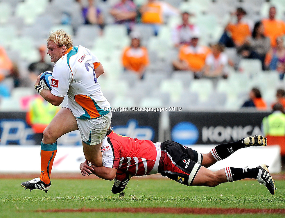 Adriaan Strauss from Toyota Cheetahs. Super Rugby - Free State Stadium aka Vodacom Park Stadium, Bloemfontein, South Africa. 7 April 2012.<br /> &copy;DeneseLups/BackpagePix
