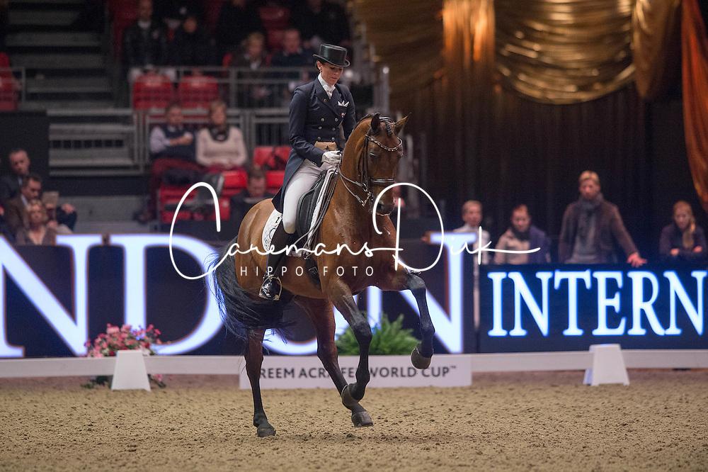 Oatley Lyndal (AUS) - Sandro Boy 9<br /> Reem Acra FEI World Cup Dressage <br /> London International Horse Show Olympia 2013<br /> &copy; Hippo Foto - Jon Stroud