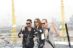30 Seconds to Mars perform a unique one-off gig at the top of the O2 Arena roof, to promote their new album <br /> Love Lust Faith + Dreams, <br /> In the photo - (L-R) Tomo Milicevic, Jared Leto, Shannon Leto <br /> London, United Kingdom<br /> Tuesday, 18th June 2013<br /> Picture by Elliot Franks / i-Images